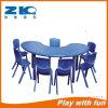 Muebles de jardín de infantes forma de media luna mesa de plástico