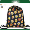 Sac de sac à dos de cordon d'impression d'Emoji de polyester