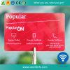 Cartão esperto sem contato plástico de Sli S CI RFID do Eu-Código Cr80