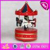 Игрушка лошади Riding 2015 красивейших малышей деревянная, коробка нот Carousel игрушки домашнего декора деревянная, самая лучшая коробка нот W07b009c лошади Carousel подарка