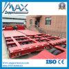 6 3개의 라인 Axle 80t Flat Low Bed Semi Trailer
