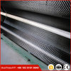 Paño de la tela de la fibra del carbón con el hilado azul hermoso 3k 200g del color