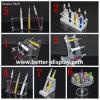 Kundenspezifischer Plastikacrylbatterie-Ausstellungsstand/elektronische Zigarettenspitze