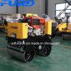 Nuevo Diesel de 800kg de refrigeración de agua pequeña vibración tándem Road Roller (CAD-800CS)
