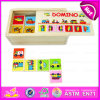 2015 nuovo e Popular Wooden Toy Domino per Kids, Education Domino Puzzle Game Set, Christmas Gift Wooden Domino Puzzle Toy W15A003