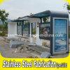 La parada de autobús de metal exterior prefabricados refugio con cuadro de anuncios