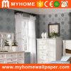 2016 puro papel Papel tapiz de plata para la decoración de interiores