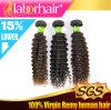最上質の100%自然なねじれたカールのブラジルのバージンの人間の毛髪の拡張Lbh 054