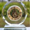Relógio redondo de mesa de cristal para presente