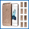 Soft TPU Crystal Clear caso de eletroplaca para iPhone 6 Plus