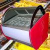 Vetrina commerciale del gelato di temperatura insufficiente di certificazione del Ce