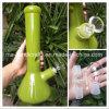 12 Zoll-Glas-rauchende Wasser-Rohre mit Becher-undurchlässigem Grün