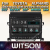 Witson Windows Car Multimedia player de DVD para a Toyota Alphard 2007 2013