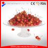 12 grand rond en verre clair Assiette de fruits avec socle