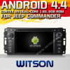 Carro DVD do Android 4.4 de Witson para o comandante do jipe com A9 sustentação do Internet DVR da ROM WiFi 3G do chipset 1080P 8g