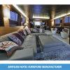 Самомоднейшая главная удобная кожа l софа гостиницы формы (SY-BS6)