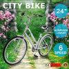 24  Madames Female Bike de Shimano de vitesse de la bicyclette 6 de vélo de ville de route