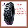 Nylon 6pr schlauchlos, lange Lebensdauer-Motorrad-Reifen mit 410-18 Zeitlimit, 110/90-16 Zeitlimit, Zeitlimit 110/90-17