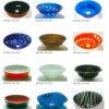 Bacias de vidro colorido com alta qualidade