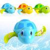Neugeborenes Babysswim-Schildkröte Wunde-oben Tier scherzt Bad-Spielzeug