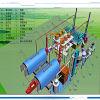 Duble réacteur Pyrolsysis 20dpt nouveau plastique de la machinerie à l'huile