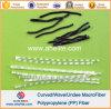 PP Anti-Crack de fibra de onda de polipropileno de Fibra Fibra Macro curvo