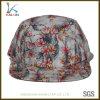 Kundenspezifische normale unbelegte Hip Hop-Blumen5 Panel-Hut-Schutzkappe
