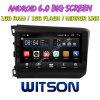 Grand écran 9 Witson Android 6.0 voiture DVD pour Honda Civic faible (DAG) 2012-2014