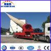 China trailer da lâmina do Vento Cama Baixa Extensível semi reboque