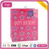 A roupa cor-de-rosa da estrela do aniversário calç os sacos de papel do presente do supermercado do brinquedo