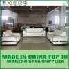 Conjunto blanco del sofá del cuero genuino de los muebles modernos de Ministerio del Interior