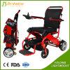 Los niños utilizan la vespa plegable del sillón de ruedas eléctrico