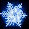Decoración de Navidad 2017 Copo de Nieve de acrílico de la luz de Motif