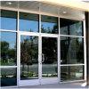 Nuevo Diseño Exterior exterior en aluminio Resorte de giro de las puertas de vidrio