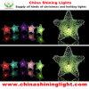 Luz colorida da decoração do bulbo do diodo emissor de luz da estrela do metal