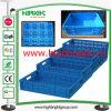 Foldabel plástico e caixa Stackable com fechamento da segurança