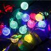 休日のHalloweenの屋外の庭の太陽豆電球のクリスマスストリング