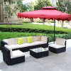 [ويكر] فناء أريكة خارجيّة كرسي تثبيت طاولة منزل حديقة [ويكر] أثاث لازم [رتّن] أثاث لازم