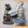 Divisa plateada plata de encargo del metal del diseño de la manera con dos embragues de la mariposa (YB-SM-05)