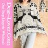 Оптовая торговля дамы моды схемы животных свитер верхние одежды