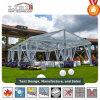 Tienda del banquete de boda de Transparnet con la azotea y el flanco transparentes