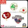 Kundenspezifische Decklack-Metallrevers-Stifte für Golf/rotes Kreuz