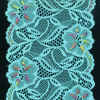 Tela azul do laço do algodão da flor para as senhoras Dress#05241