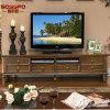 フランス様式マホガニー木TVの立場のキャビネット(GSP15-003)