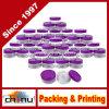 runde freie Gläser der Qualitäts-5ml mit purpurroten Kappen