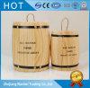 Barilotti di legno del chicco di caffè del pino su ordinazione di colore con lacca libera