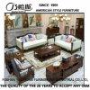 Canapé moderne en cuir véritable de style américain pour les meubles de maison (AS845)