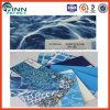 Recouvrement en vinyle de piscine de bleu et de mosaïque