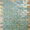 Collant ovale vert en verre de mosaïque