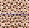 Colore di vetro misto di pietra del Brown del quadrato del mosaico